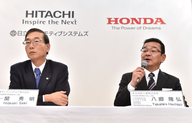 Honda George, Hitachi Automotive Systems and Honda sign Memorandum of Understanding Aiming to Establish Joint Venture Company for Electric Vehicle Motors, Article.